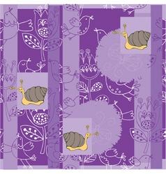 floral snails vector image