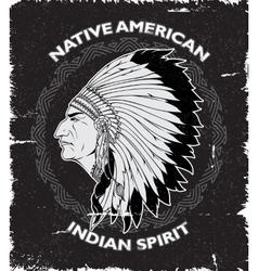 Native American Spirit Vintage Design vector image