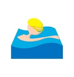 Swimmer cartoon icon vector image vector image