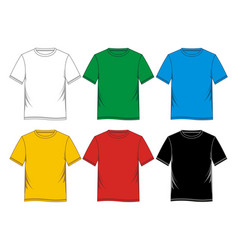 t-shirt blank vector image vector image