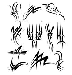Tribal Frills vector image vector image