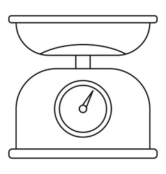 Weighing scales icon outline style vector