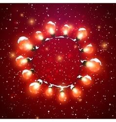 Glowing lights luminous electric wreath vector