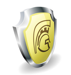 Spartan helmet shield security concept vector