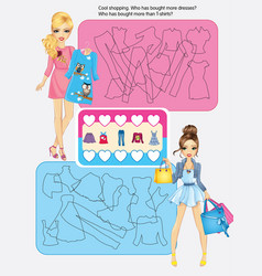 Activity Page Of Cool Shopping vector image