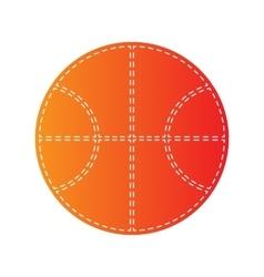 Basketball ball sign Orange applique vector image vector image