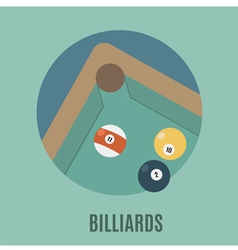 Billiards vector image vector image
