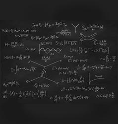 Chalk board with formulas vector image vector image