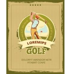 Vintage golf tournament poster vector image