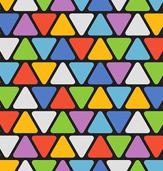 Abstract seamless pattern with color triangles vector