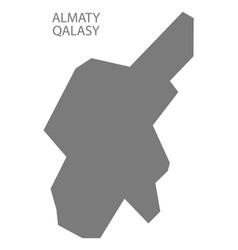 Almaty qalasy kazakhstan map grey vector