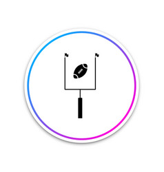 american football with goal post icon isolated on vector image