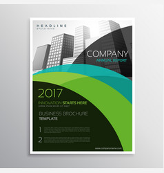 Annual report brochure template flyer leaflet vector