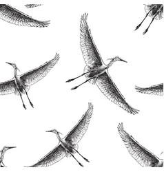 background cranes flying in sky vector image