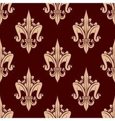 Beige and brown floral seamless pattern vector