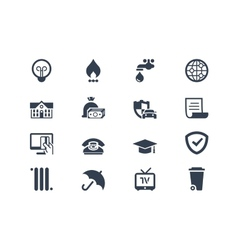 Billing icons vector image
