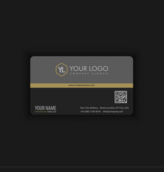 Black and gold elegant business card vector