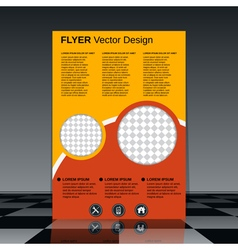 Business flyer design template vector image