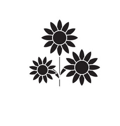 buttercup black concept icon buttercup vector image