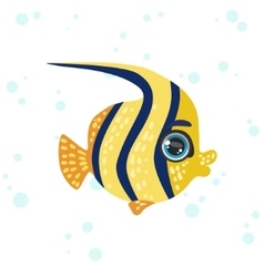 Butterfly Fish Drawing vector image