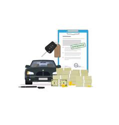 Car loan vector