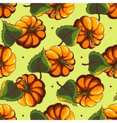 Cartoon Pumpkin Seamless Pattern vector image