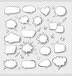 cartoon thought bubble set comic empty talk and vector image