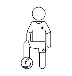 Character soccer player football uniform ouline vector