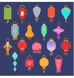 Chinese lantern ligher paper lighter vector