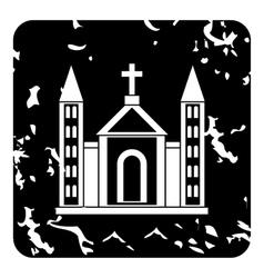 Church christian icon grunge style vector