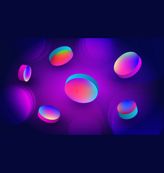 Colorful background with fluidity objects vector