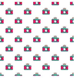 Colorful photo camera pattern vector