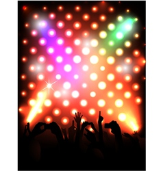 concert crowd vector image