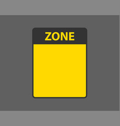Danger sign isolated warning label empty template vector