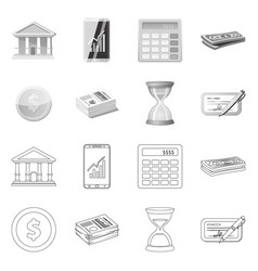 design of bank and money logo set of bank vector image
