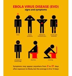 Ebola symptoms infographic vector