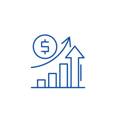 economic growth line icon concept economic growth vector image