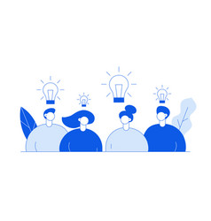 flat line style business teamwork vector image