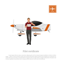 flying academy airplane training aircraft vector image