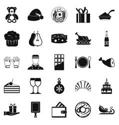 Generosity icons set simple style vector