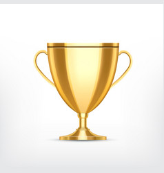 Golden cup isolated on white vector