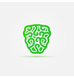 Green brain icon vector image