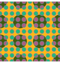 Green polka dot geometric seamless pattern vector image