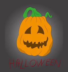 halloween pumpkin drawing color vector image