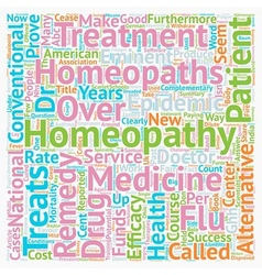 Homeopathy Which Way Now text background wordcloud vector