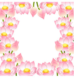 indian lotus border vector image