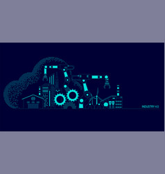 industry 40 vector image