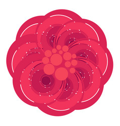 isolated abstract flower icon vector image