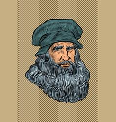 Leonardo da vinci italian painter inventor vector