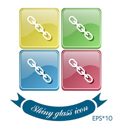 Links chain icon vector image